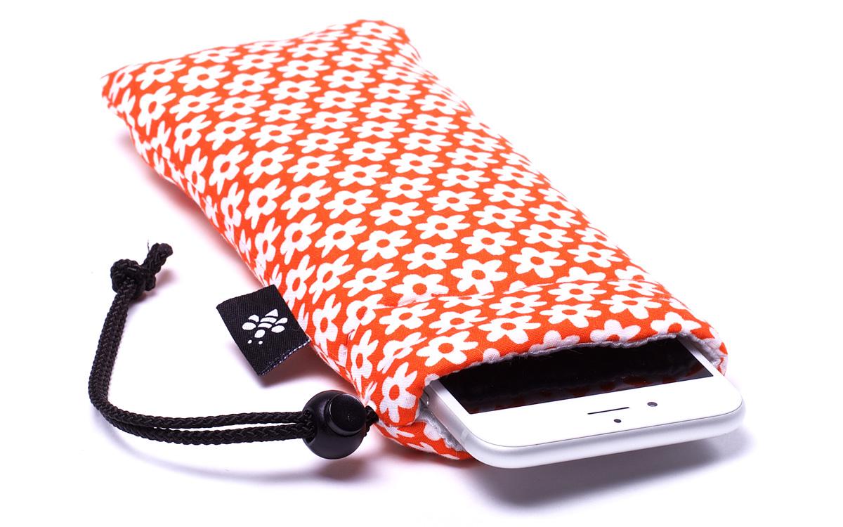 orange blumen iphone h lle orange. Black Bedroom Furniture Sets. Home Design Ideas